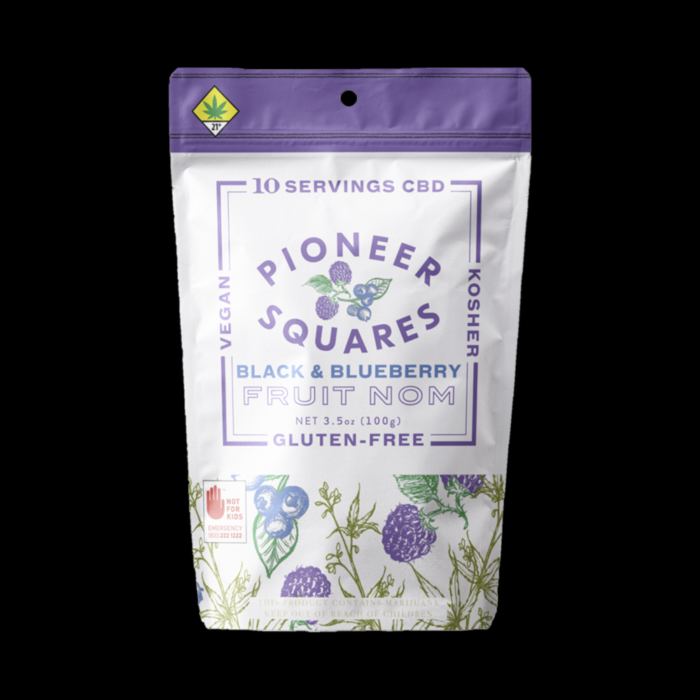 Pioneer squares black and blueberry cbd