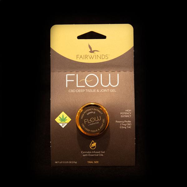 Trial size flow gel