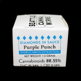 Purple Punch Diamonds in Sauce
