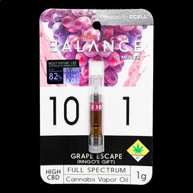 CBD 10:1 Grape Escape Flavored Cartridge