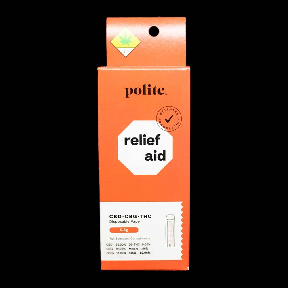 Polite relief aid